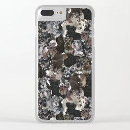 Schnauzer Collage Realistic Clear iPhone Case