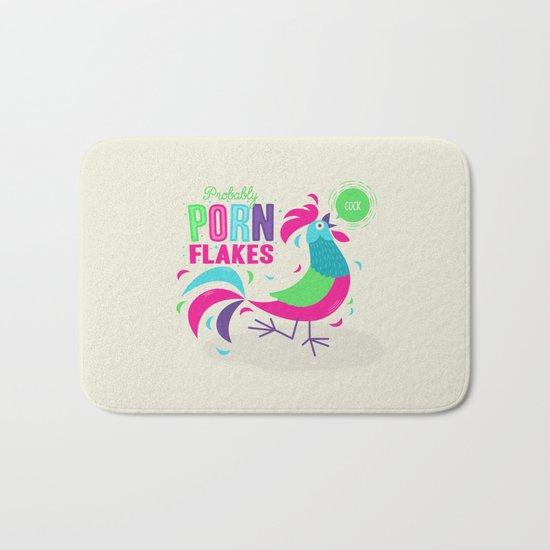 Porn Flakes Bath Mat