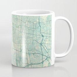 Teheran Map Blue Vintage Coffee Mug