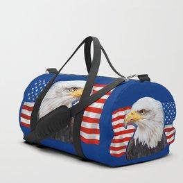 Patriotic Eagle 4th of July American Flag Duffle Bag