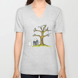 Out by the Yew Tree Unisex V-Neck