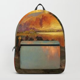 Green River Cliffs, Wyoming Landscape by Thomas Moran Backpack