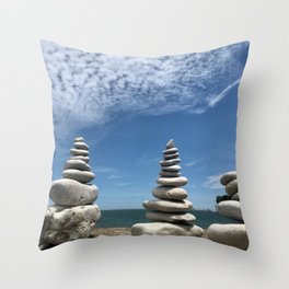 Rock Stack, Photography by Willowcatdesigns Throw Pillow