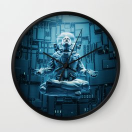 Astro Lotus Wall Clock