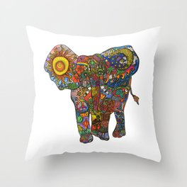 Search & Find Elephant  Throw Pillow