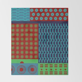 Japanese Style Colorful Patchwork Throw Blanket