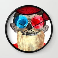 xmas Wall Clocks featuring Xmas by Marko Köppe