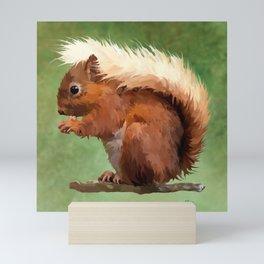 Scruffy Red Squirrel Mini Art Print