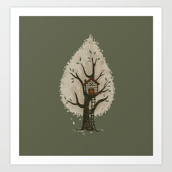Tree House Art Print