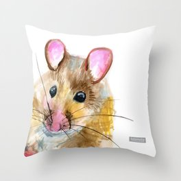 Inky Mouse Throw Pillow