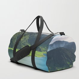 Vulcanic lake on the Azores island in Portugal Duffle Bag