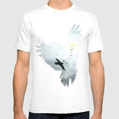 Crows Mens Fitted Tee White MEDIUM