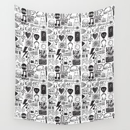Music Doodles Wall Tapestry