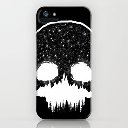 Mountains Skull iPhone Case
