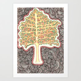Tree of Doodles Art Print