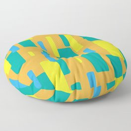 Dropping squares Floor Pillow