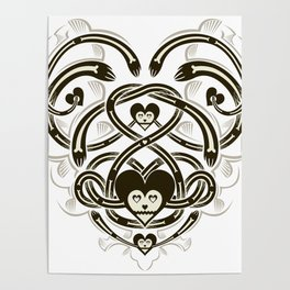 Playing Cards - Heart Poster