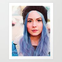 gemma Art Prints featuring Gemma by Tina Rojas