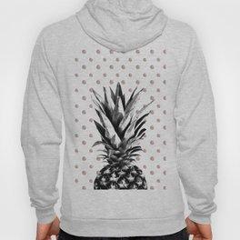 Pineapple Happy Polka Dots Dream #1 #tropical #fruit #decor #art #society6 Hoody