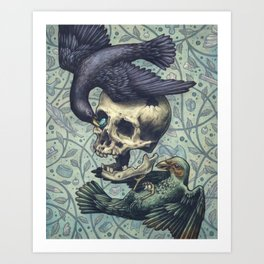 Bowerbirds Art Print