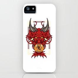 Japanese Demon Art Mask Devil Oni Kanji T-Shirt iPhone Case