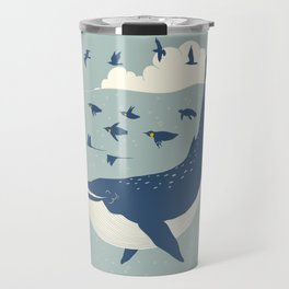 Fly in the sea Travel Mug