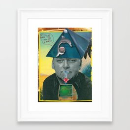 RAW Pope (Robert Anton Wilson) Framed Art Print