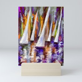 Sailboats Mini Art Print