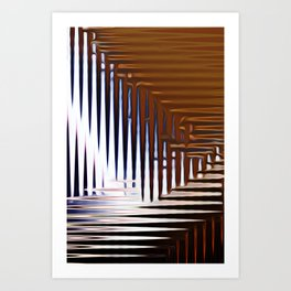 Bright Grid Art Print