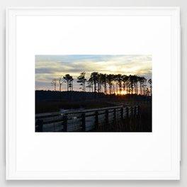 Ragged Island - Sunset Framed Art Print