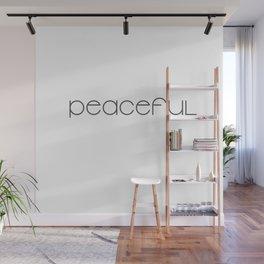 Peaceful (black) T-Shirt & Pillow & Tote Bag Wall Mural