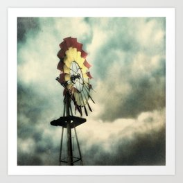 Windmill at the Red Barn Cafe Art Print