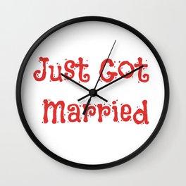Just Got Married Wall Clock
