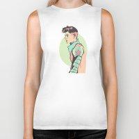 pastel Biker Tanks featuring Pastel by Shop 5