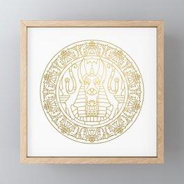 Anubis Mandala – Egypt Framed Mini Art Print