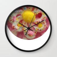 cake Wall Clocks featuring CAKE by Chad spann