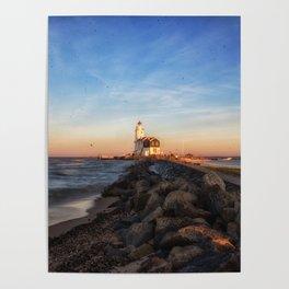 Marken Lighthouse at Sunset Poster
