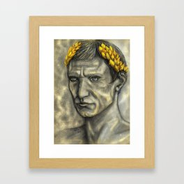 Golden Gaius Framed Art Print