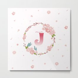 Letter J Metal Print