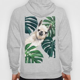 Sneaky Llama with Monstera Hoody