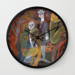 Lovers and Lions Wall Clock