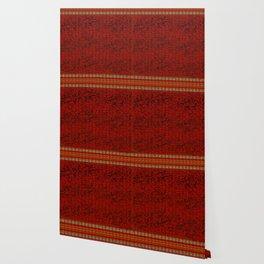 Orange Heart Stripes Wallpaper
