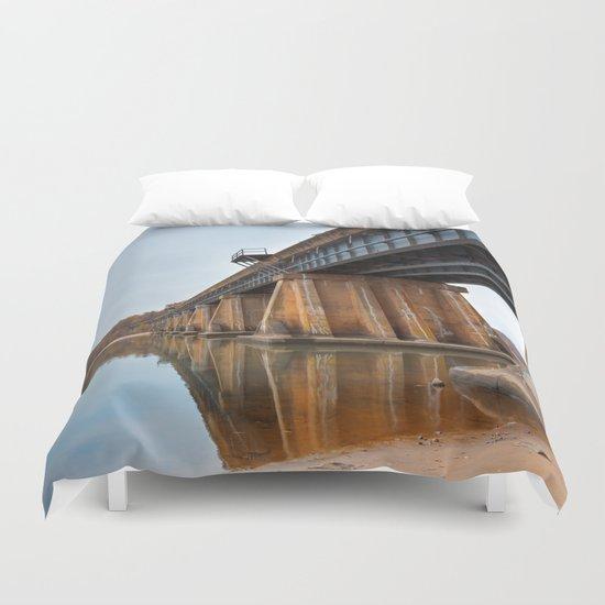 Rustic Leesylvania Bridge Duvet Cover