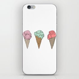 Ice creams illustration iPhone Skin