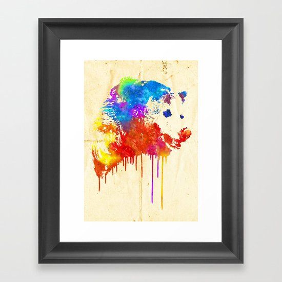Rainbobear Framed Art Print