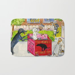Canine Poop Scooping Contest Bath Mat