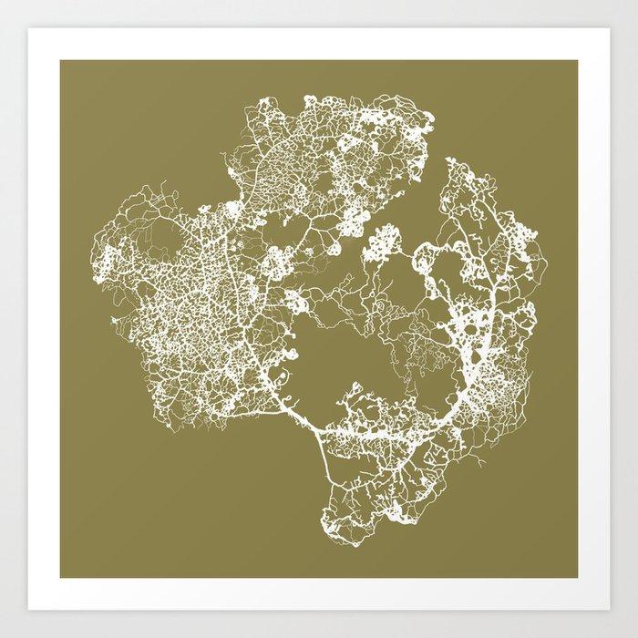 Physarum Polycephalum Art Print