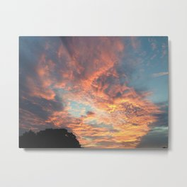 Cotton-candy Clouds at Sunset Metal Print