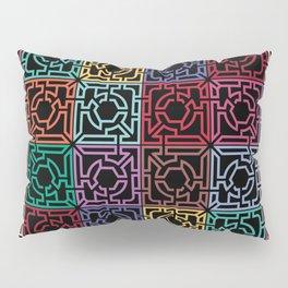 Maze Colorful Seamless Pattern II Pillow Sham