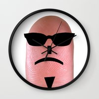 melissa smith Wall Clocks featuring smith by Panic Junkie